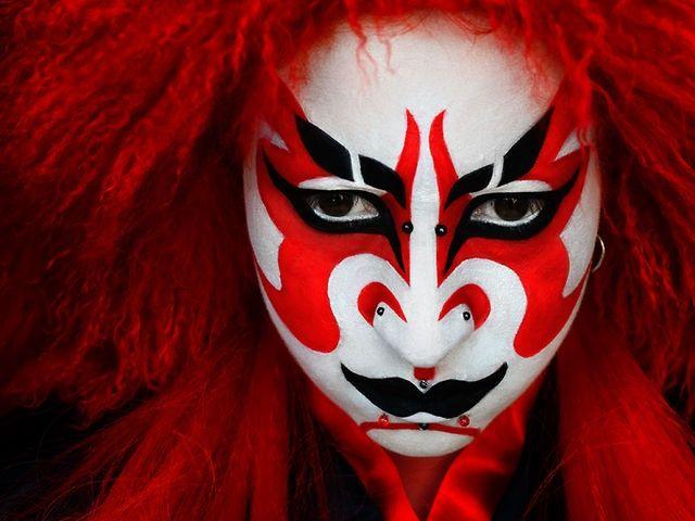 Kabuki Makeup Morgue In 2019 Makeup Theatre Makeup Japanese - Kabuki-makeup