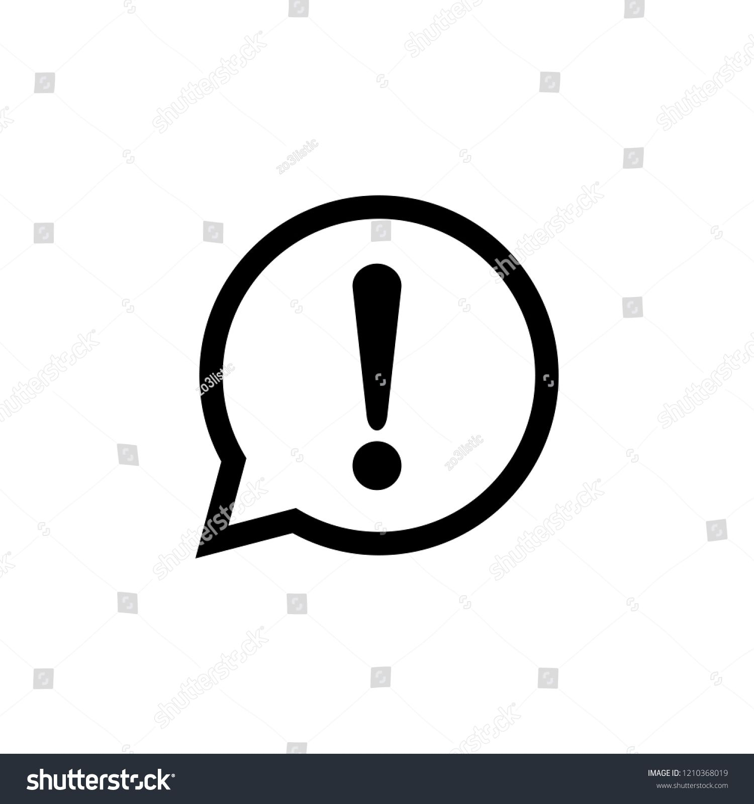Alert Icon Exclamation Mark Attention Icon Danger Symbol Sponsored Ad Exclamation Mark Alert Icon Vector Icon Logo Illustration
