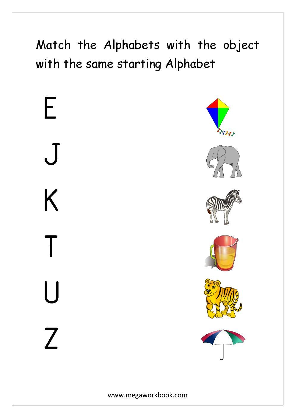 8 Alphabet Matching Worksheets In 2020 Alphabet Matching Alphabet Worksheets Free Matching Worksheets