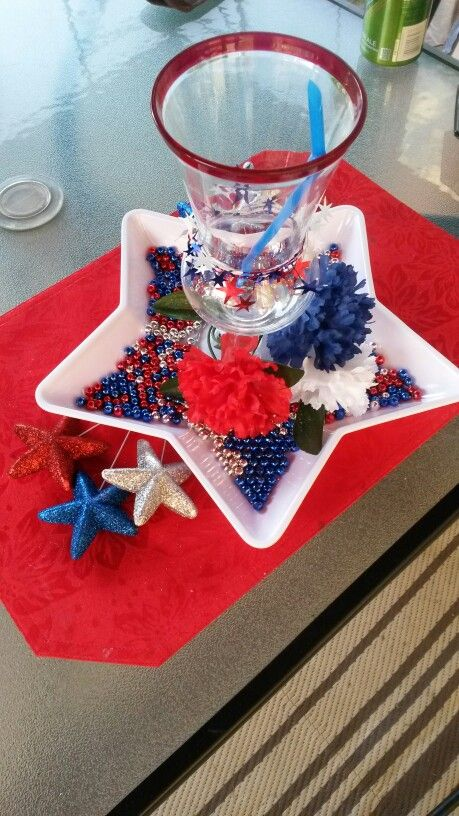 July 4th drink decoration