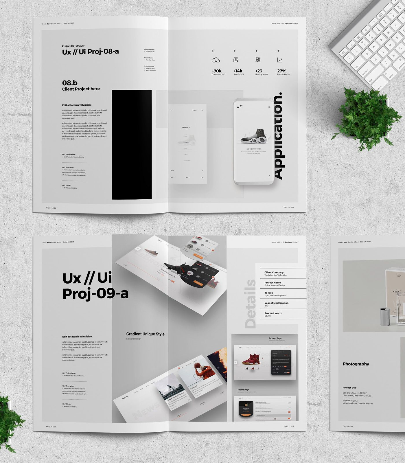 Project And Design Portfolio Templateminimal And Professional Work