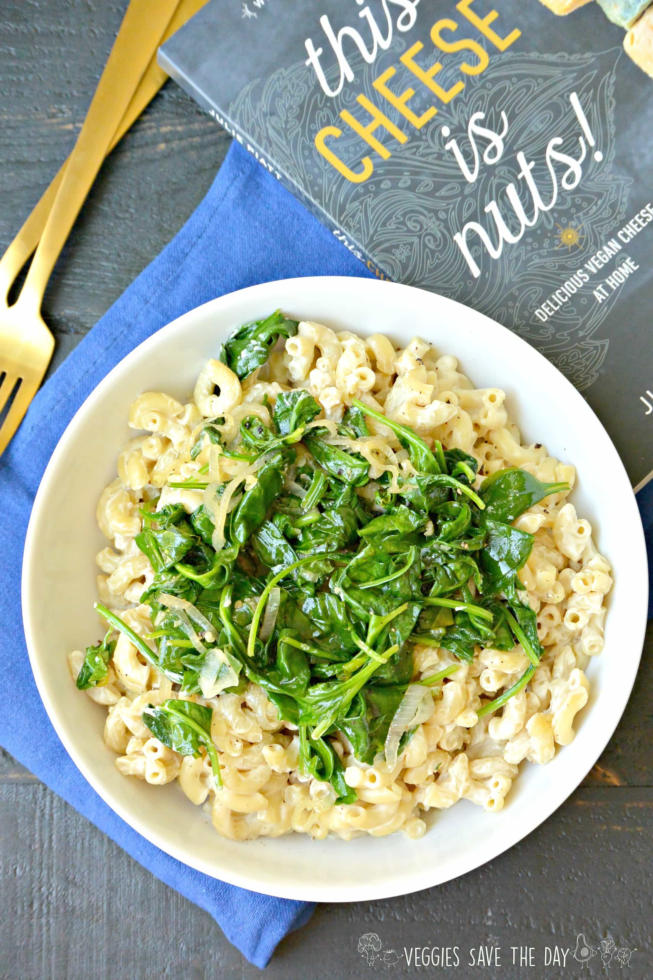 Mac And Cheese With Garlic Spinach