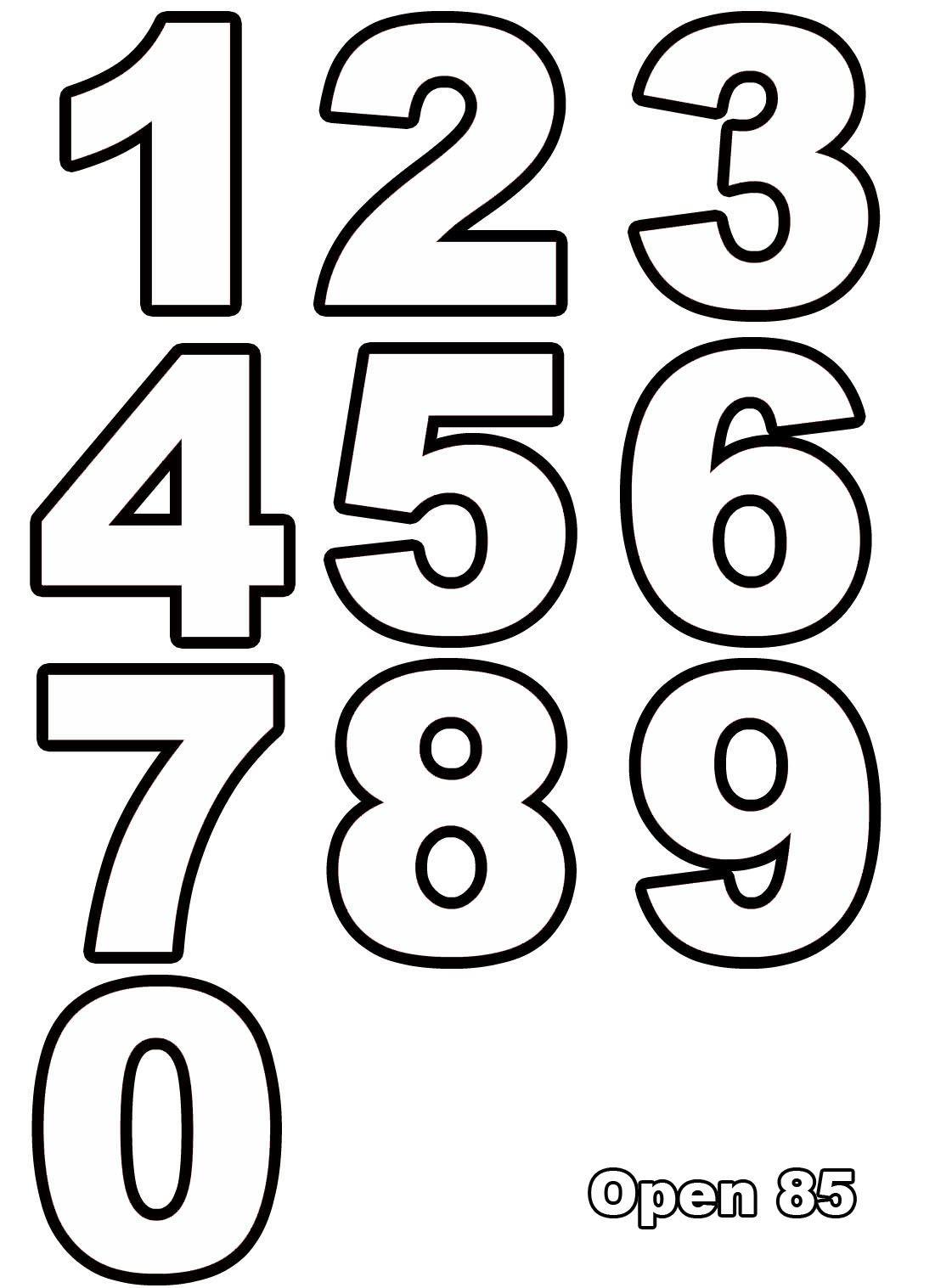 ausmalen nummern – Ausmalbilder für kinder | Malvorlagen | Pinterest ...