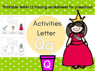 حرف Q للاطفال احرف اللغة الانجليزية Preschool Activities Tracing Worksheets Activities
