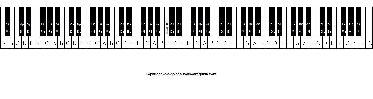 88 Key Piano Keyboard Jpeg Image 1250 332