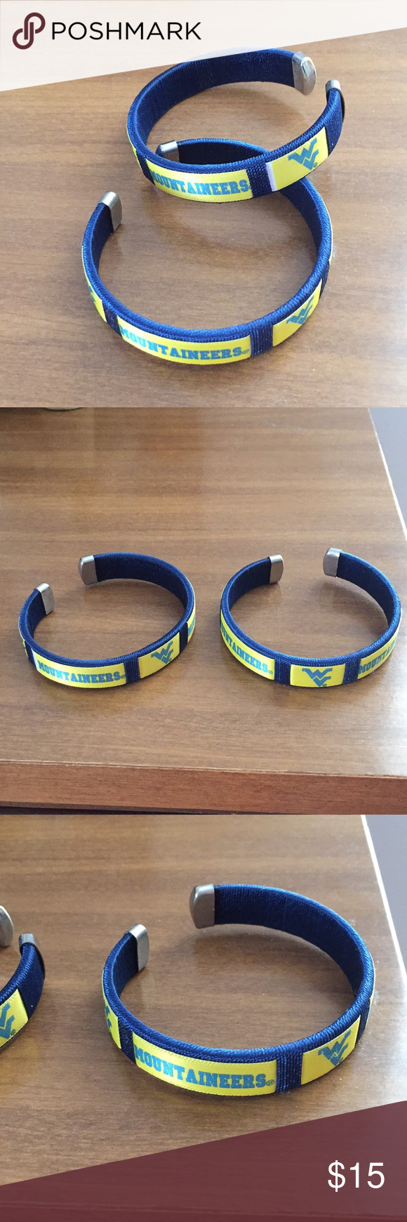 (1) WV WVU Mountaineers Spirit Band Cuff Bracelet #wvumountaineers