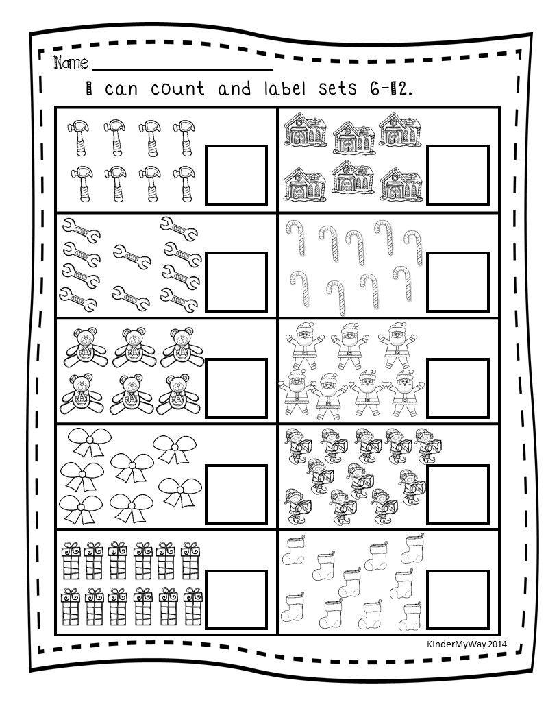 Christmas Math Printables | Mathe und Kind