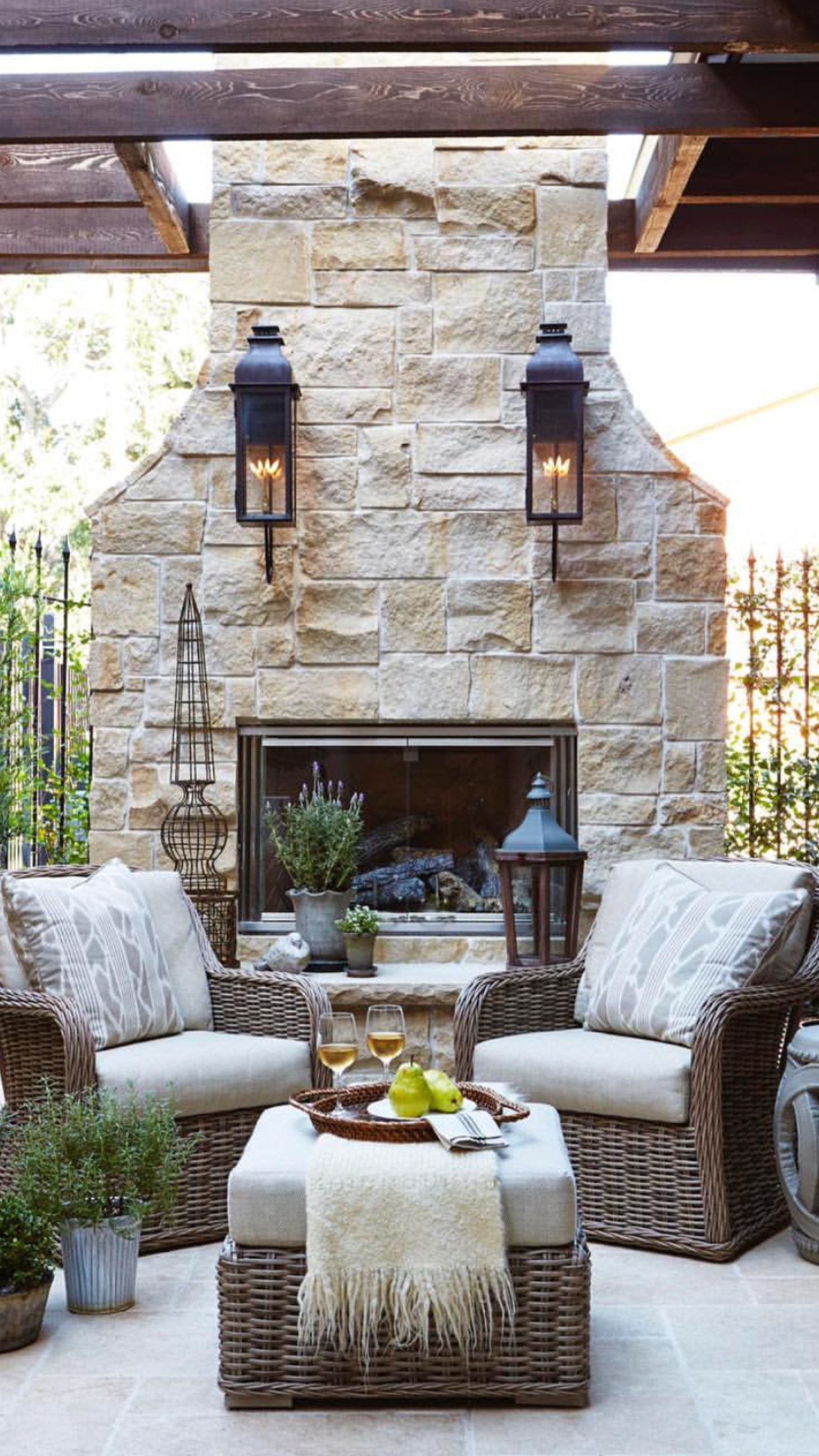 Outdoor Stone Fireplace Decor room in Pinterest Outdoor