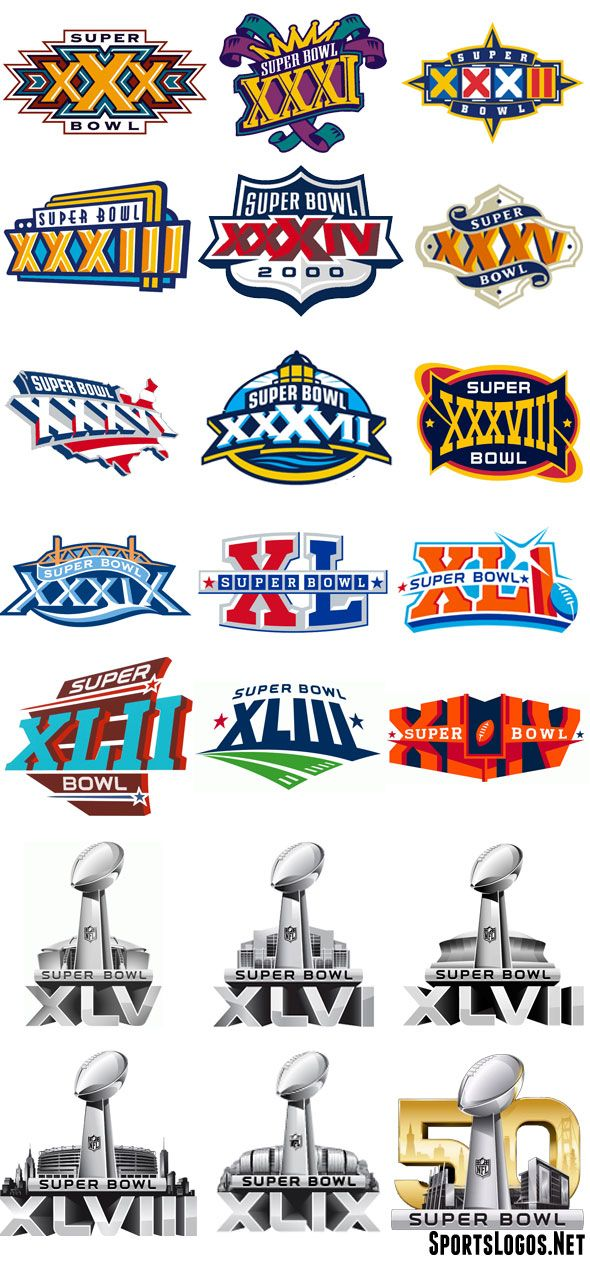 Super Bowl Logos 30 50 Jpg 590 1270 Super Bowl 50 Logo Super Bowl Nfl Superbowl Logo