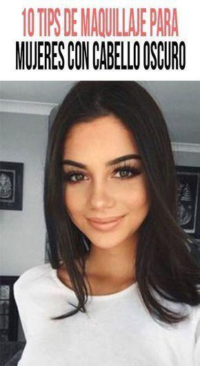 10 tips de maquillaje para mujeres con cabello oscuro