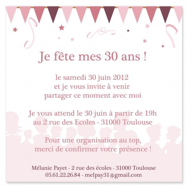 carte invitation anniversaire 30 ans 5xx Error   Texte invitation anniversaire, Invitation anniversaire