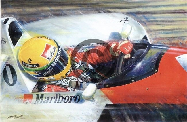 Ayrton Senna 1991 Japanese Grand Prix Ayrton Senna Japanese Grand Prix Automotive Art Illustrations