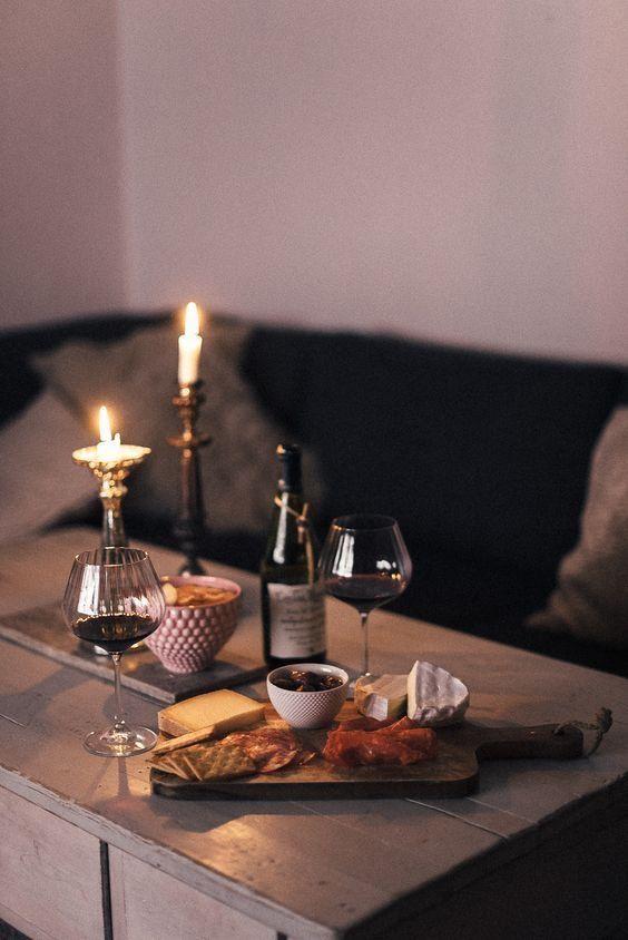 Wine and antipasto