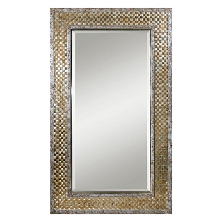 Buy Uttermost 07698 Mondego Woven Nickel Mirror Floor Mirror Mirrored Furniture Mirror Wall