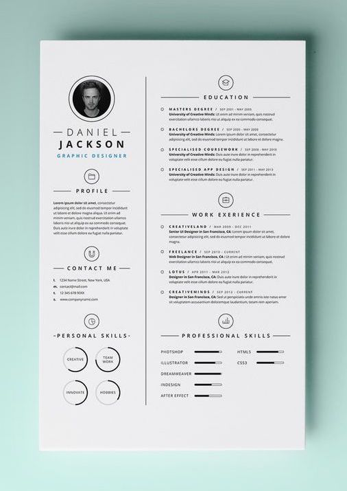 free template cv page