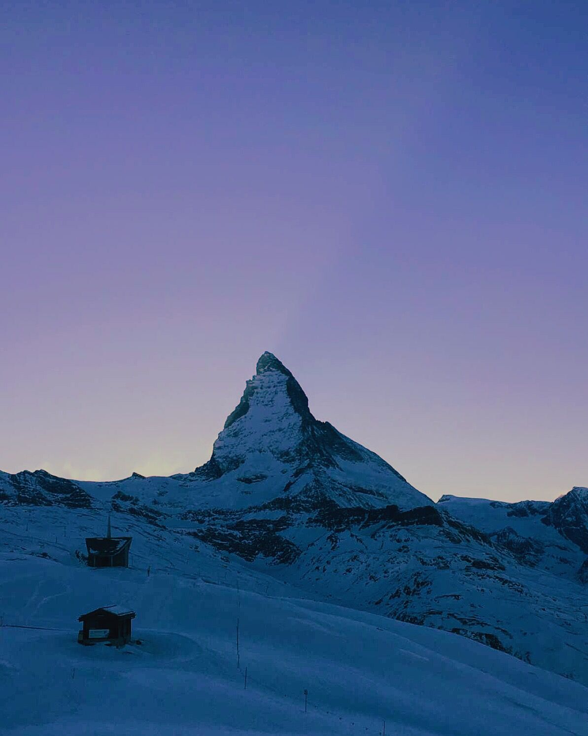 Sunset 21 February 2016 in Zermatt - Matterhorn by @gioja