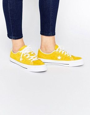 b341971e23a Converse Cons One Star Yellow Brushed Suede Trainers
