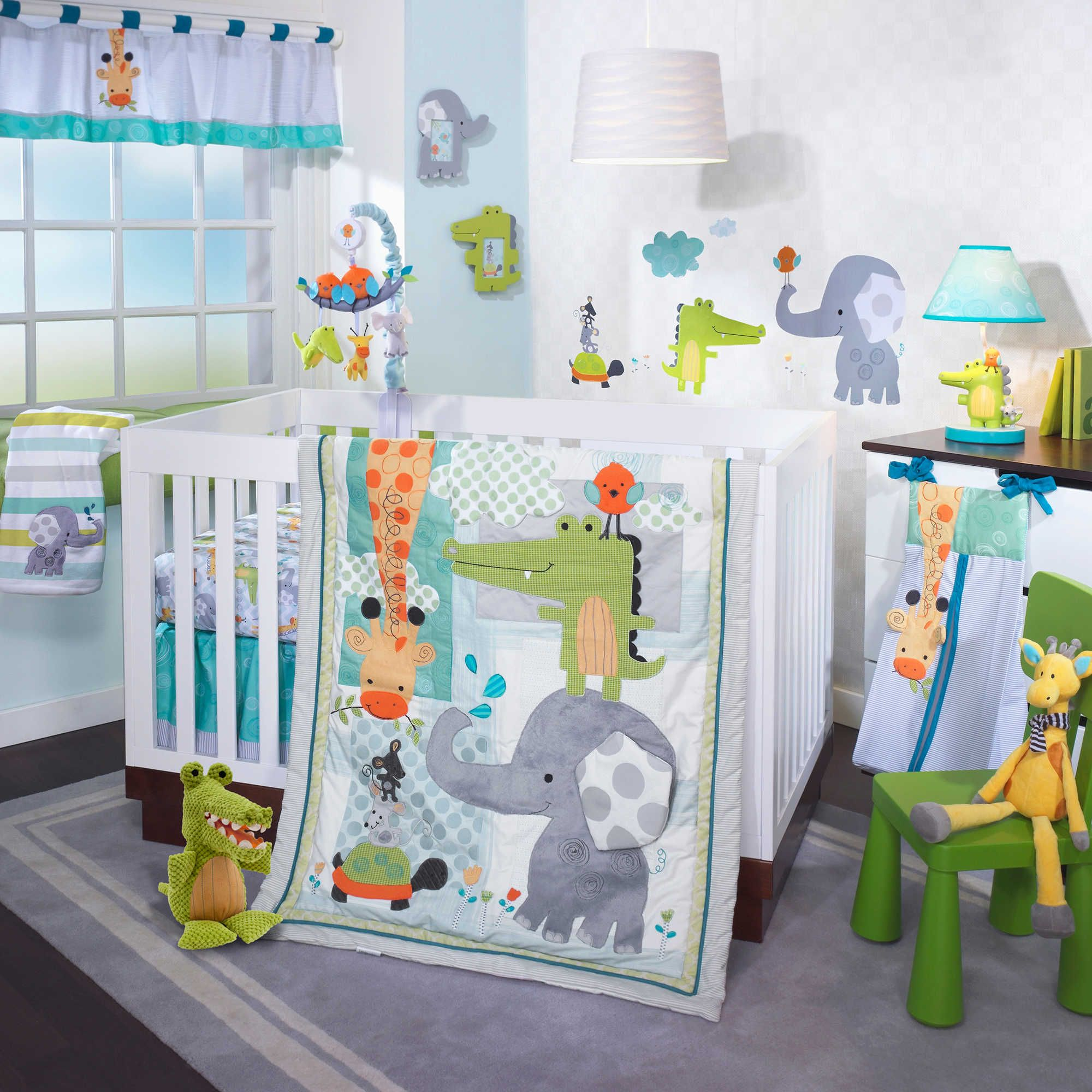 Lambs & Ivy's charming Yoo-Hoo Crib Bedding Collection is sure to delight your little one with its menagerie of adorable animals and fresh, fun colors.
