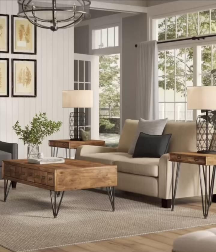 Photo of Modern Farmhouse Living Room (items linked)