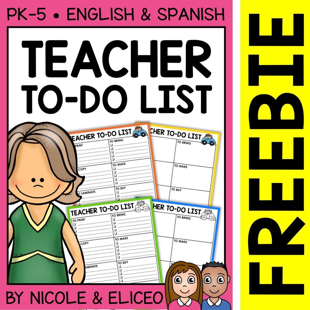 Free To Do List For Teachers