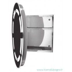 Specchio Bagno Contenitore Led.Specchio Bagno Tondo Diametro 63cm Led E Contenitore Kam 139