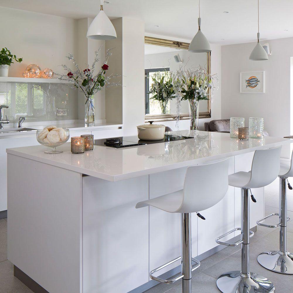 schönen shaker küche insel   moderne weiße küchen