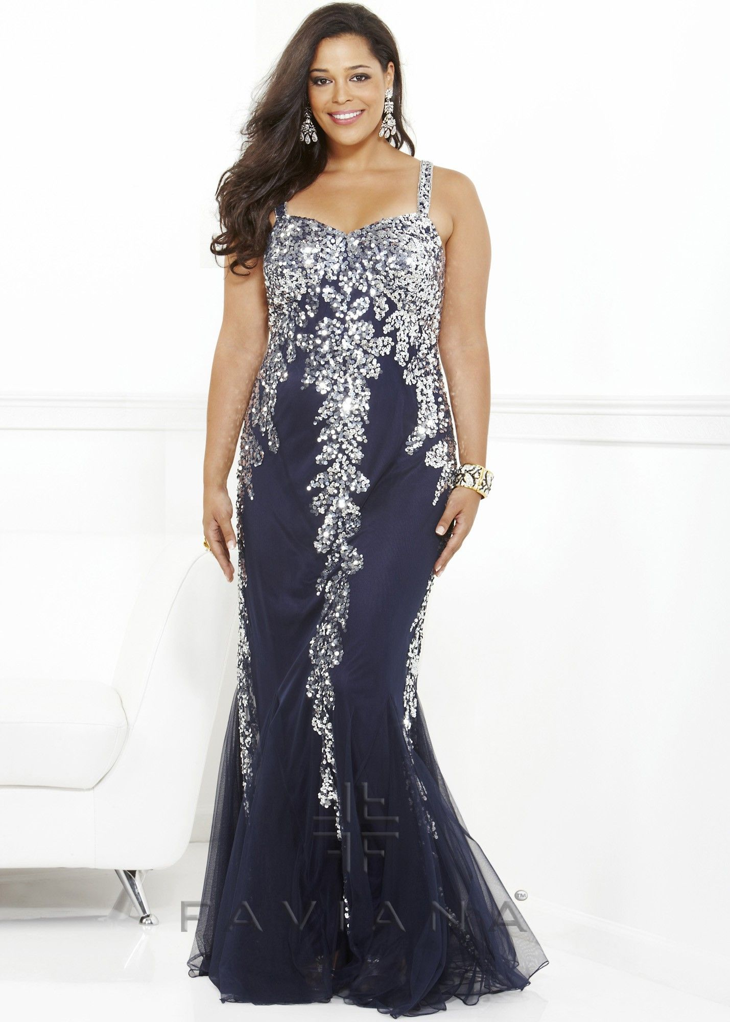 Elegant Plus Size Dress For Formal Events