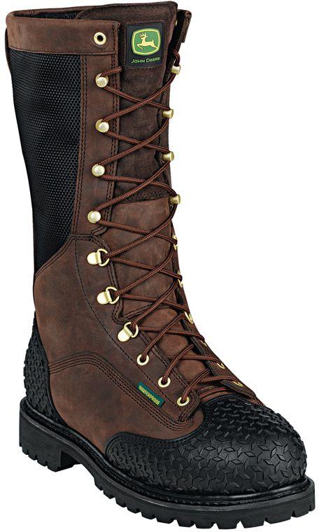 a24aa567987 JD9301 John Deere Men's Waterproof Safety Boots - Gaucho | John ...