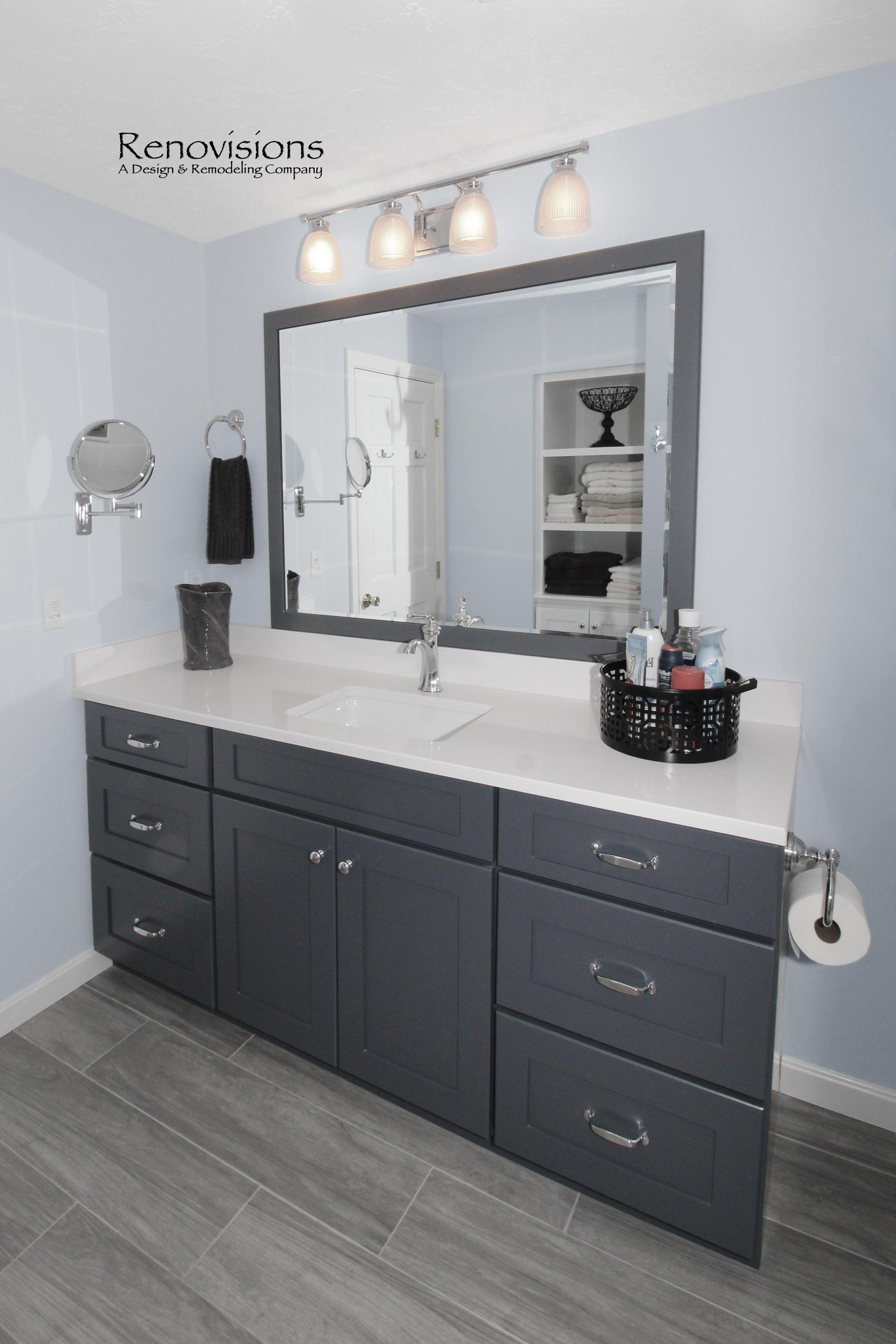 Full Bathroom Remodel By Renovisions In Norwell Ma Wood Look Porcelain Plank Tile Flooring Plan Grey Wood Floors Wood Look Tile Bathroom Grey Bathroom Floor