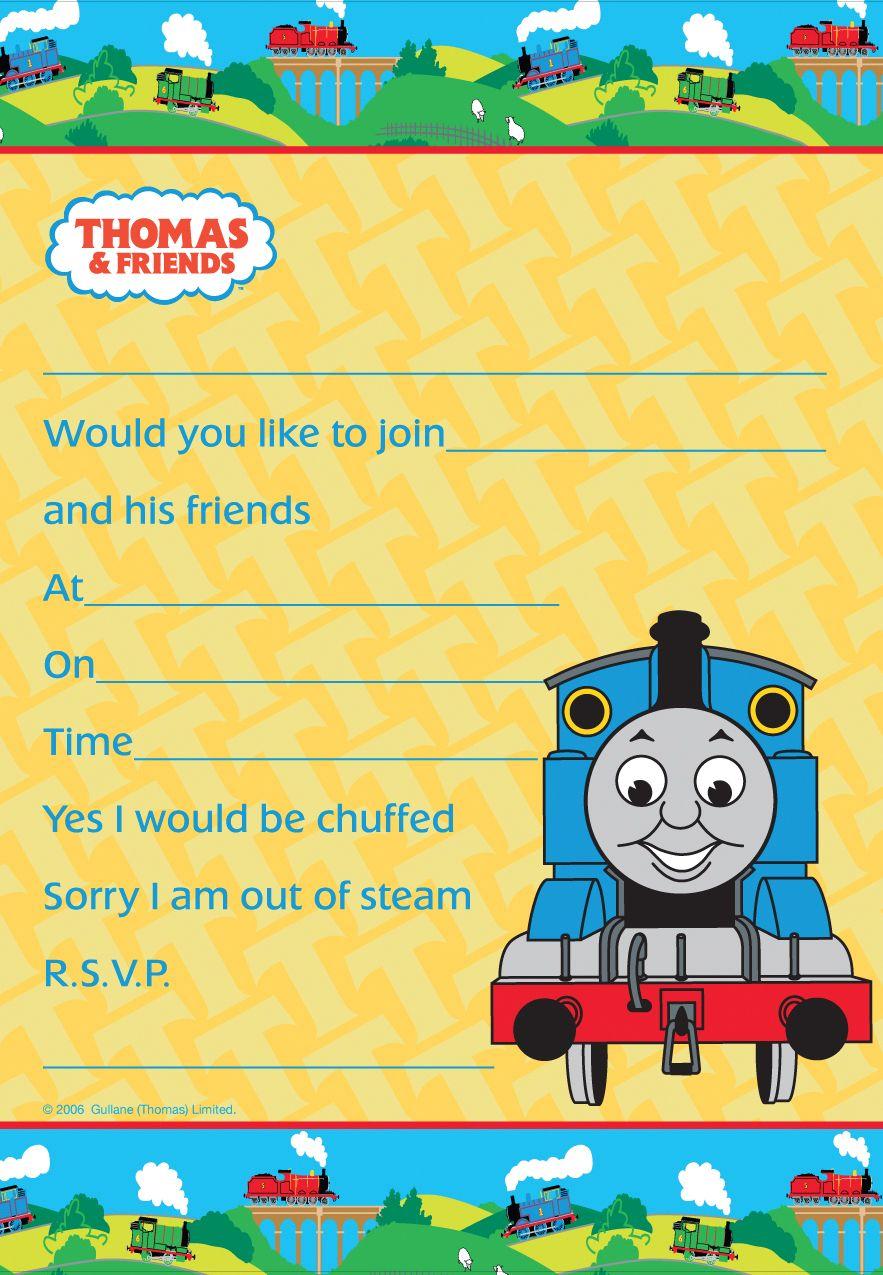 Free Thomas The Train Baby Shower Invitation Ideas Free Baby