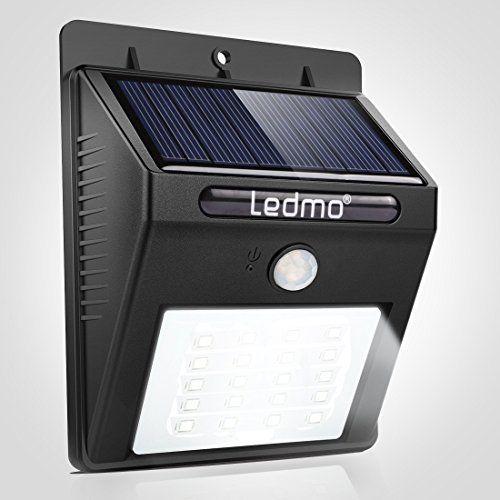 LEDMO Lampe Solaire Exterieur 20 LED Lumière Solaire Sécurité avec ...