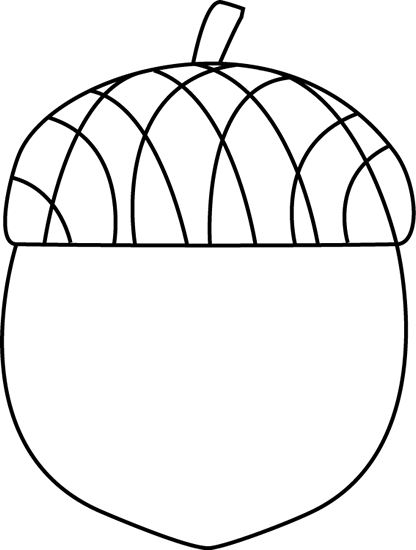 image relating to Acorn Template Printable known as acorn template/coloring website page Slide Plans Slide clip artwork