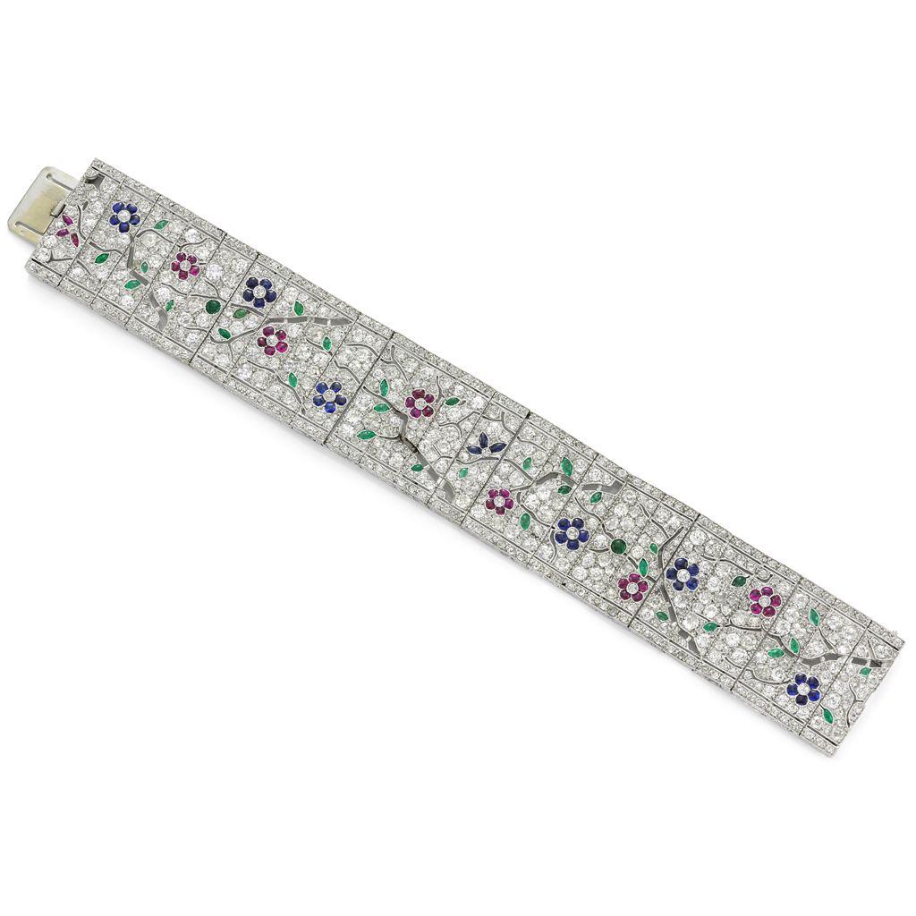 """Art Deco """"Japanoise"""" diamond bracelet by Lacloche Freres, Paris circa 1925"""