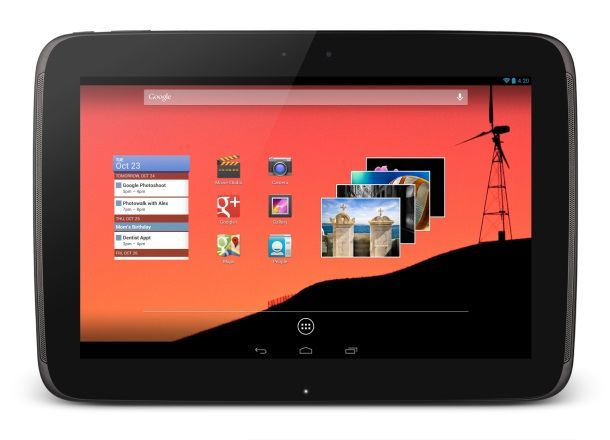 Google Nexus 10 Tablet Launched With 2560x1600p display