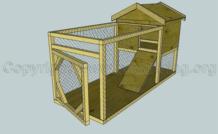 Dog kennel and run plans the floor frame diy dog run