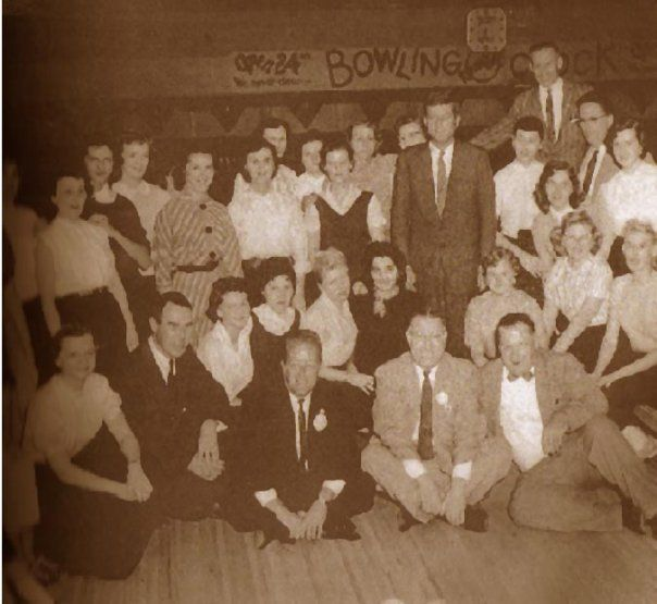 President Kennedy Visiting Majestic Lanes Before His Election Wood Bridge Memories Painting