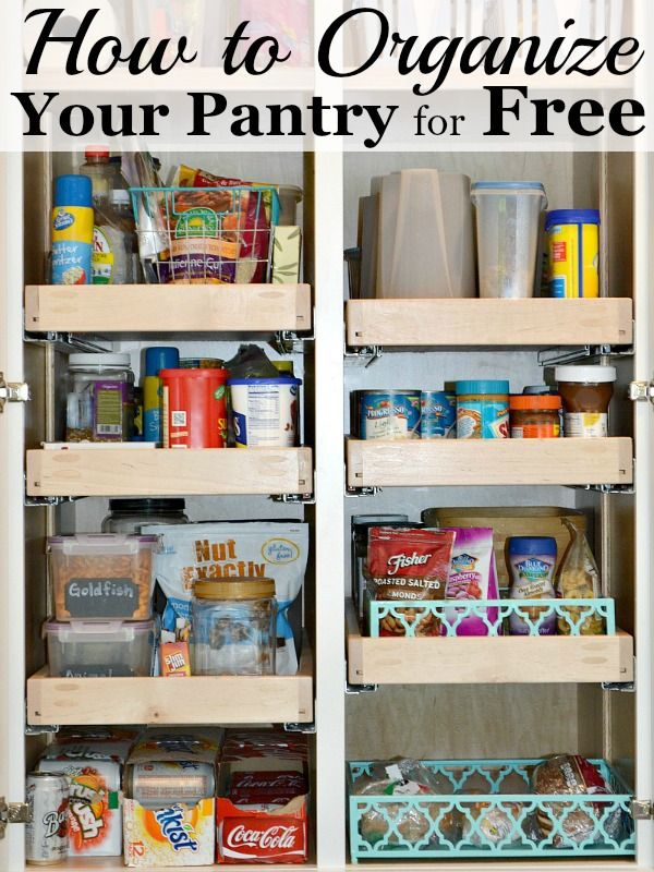 How To Organize The Pantry For Free Ask Anna Organization Pantry Inspiration Pantry Organization