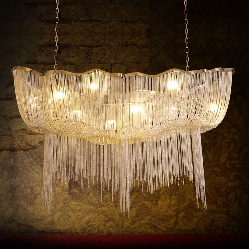 Fringed Pendant Lamp Aluminium Chain Led Pendant Light Post-modern Atlantis Pendant Lighting Stainless Steel Lamp Body Ceiling Lights & Fans Lights & Lighting
