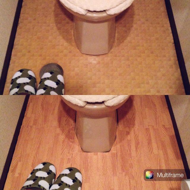 バス トイレ プチプラ ジョイントマット トイレの床 ナチュラル などのインテリア実例 2015 11 08 16 16 50 Roomclip ルームクリップ ジョイントマット ナチュラル トイレ セリア
