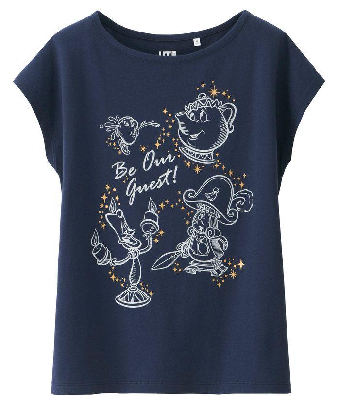 La Belle et la b/ête Disney Tee Shirt Femme Belle Pas de Filtre Elbenwald Coton Noir