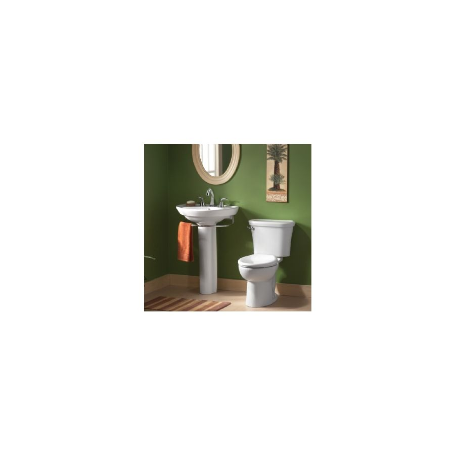 Shop American Standard Ravenna 34-in H White Vitreous China Pedestal ...