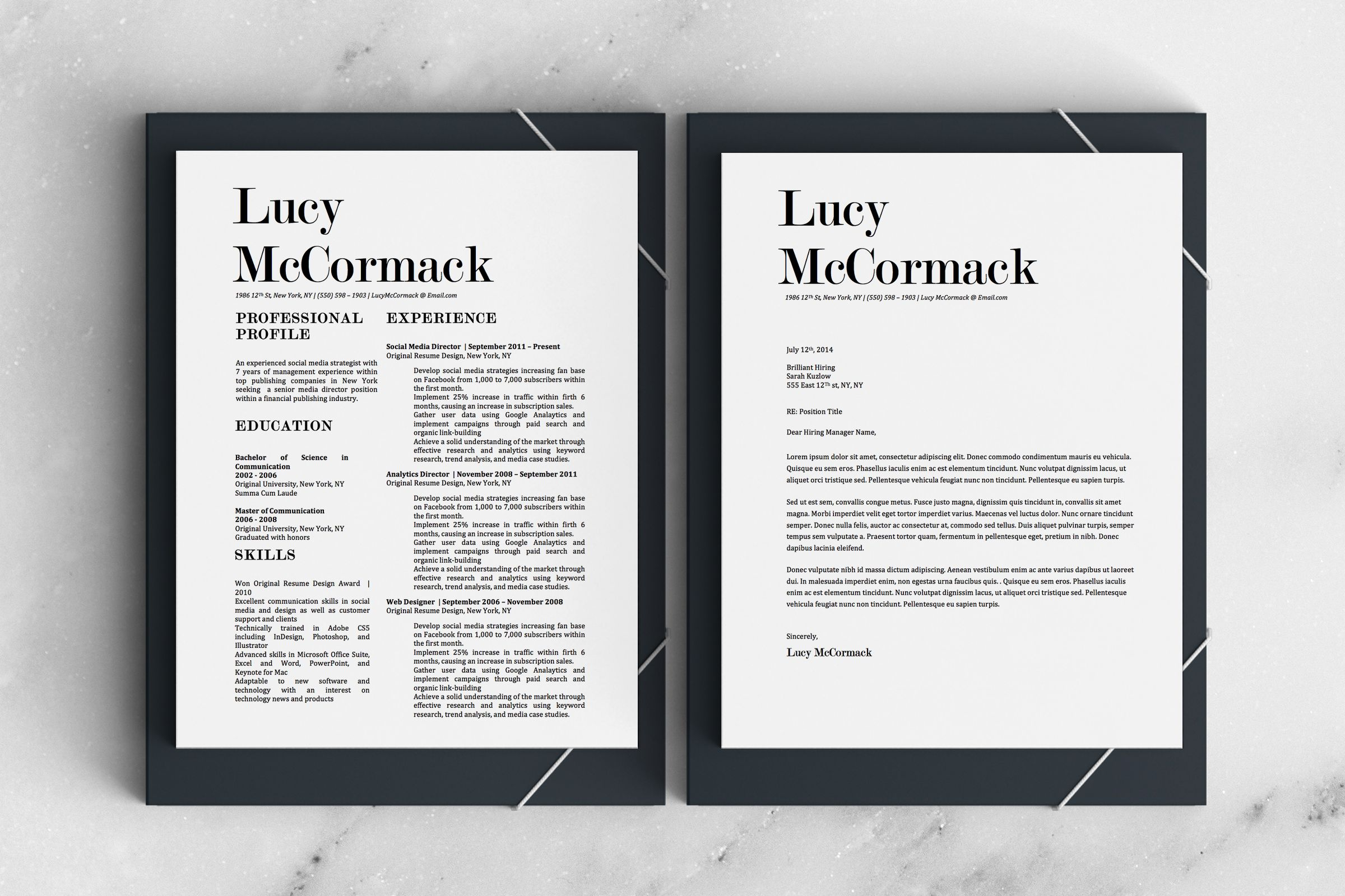 Stylish Resume Bundle Resume Template Cover Letter For Resume Resume