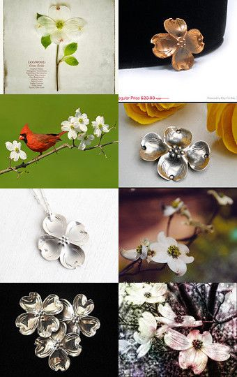 Dogwood in my garden, a VJSE treasury by Marina on Etsy-- #vintage #dogwood #jewelry