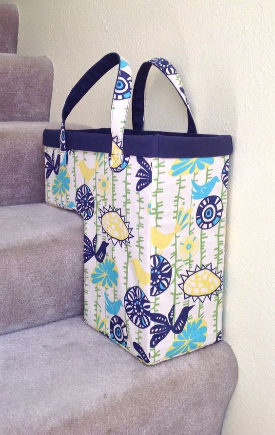 The One-Trip-Up the Stairs Basket - PDF Sewing Pattern | Pinterest