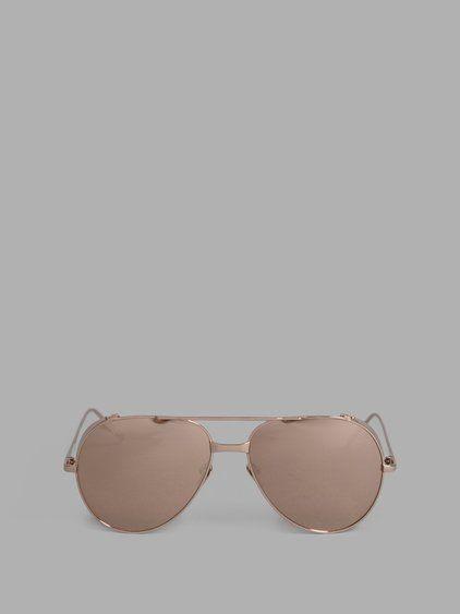 d0cc88e84bd LINDA FARROW LINDA FARROW ROSE GOLD AVIATOR SUNGLASSES.  lindafarrow   eyewear
