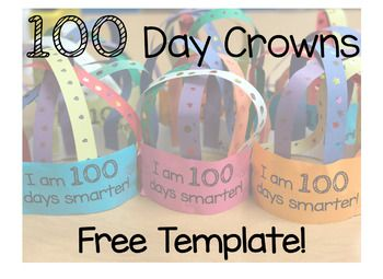 Free 100 day crown printable 100th day of school pinterest free 100 day crown printable maxwellsz