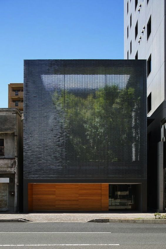 Hiroshi Nakamura  NAP  Optical Glass House Façades, Moucharabieh