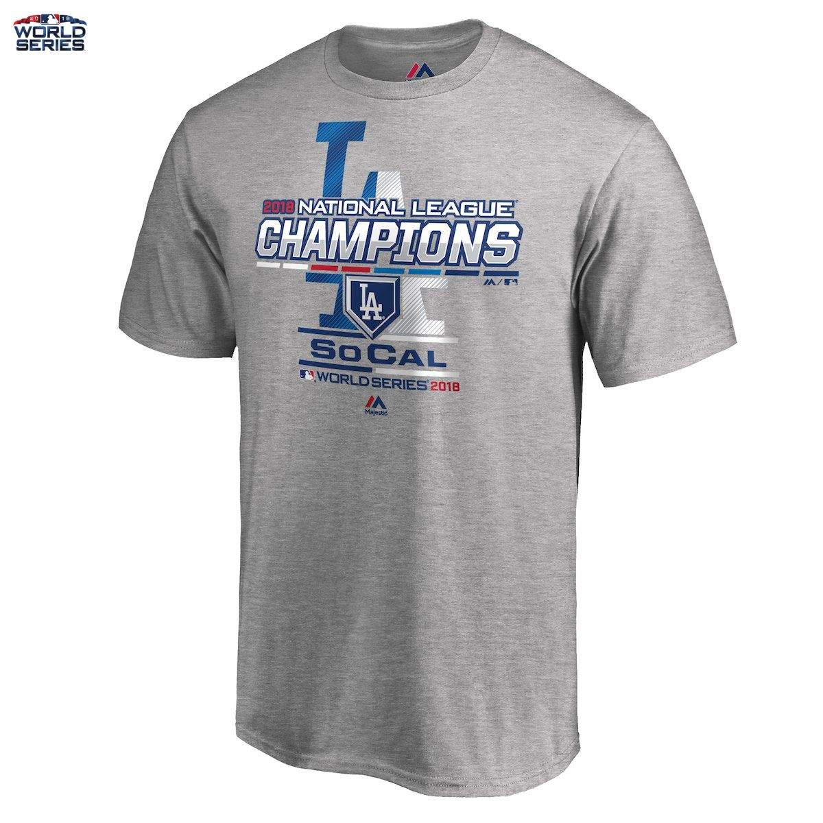 4085f4442ce Details about Los Angeles Dodgers 2018 World Series Majestic T-Shirt ...