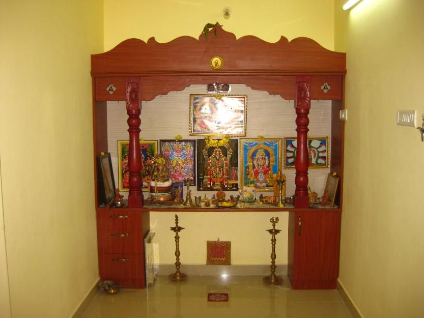 Awesome Pooja Cabinet On Furniture Puja Room Rubwood Pooja Cabinet .