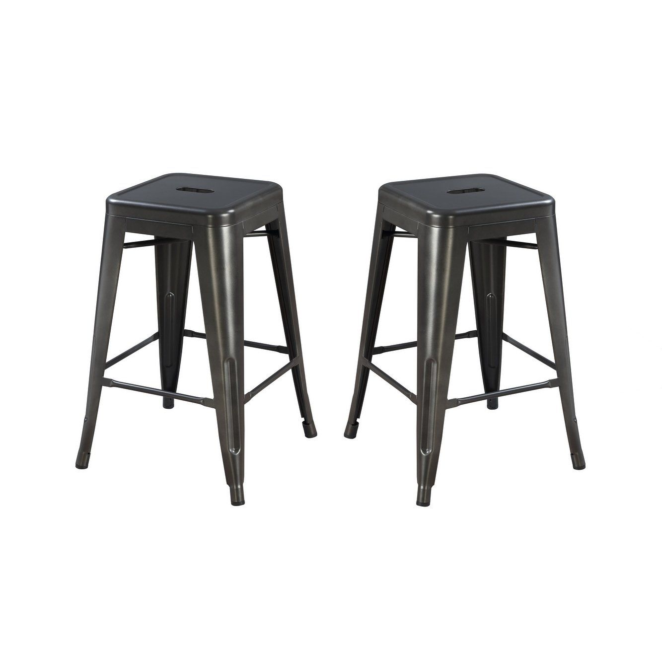 Tremendous Emerald Home Dakota Ii Gunmetal Gray 24 Bar Stool With All Ibusinesslaw Wood Chair Design Ideas Ibusinesslaworg